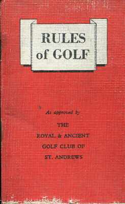Miniature Book RULES OF GOLF approved Royal & Ancient Club St Andrews 1949