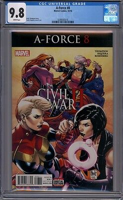 A-Force #8  Captain Marvel  Medusa  1st Print   CGC 9.8