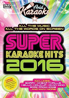 Super Karaoke Hits 2016 [DVD], DVD, New, FREE & Fast Delivery