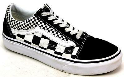 Skool Canvas White Checkered Sk8 Unisex Old Vans Pumps Black qwZxg
