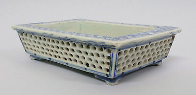Antique 18thC Chinese Porcelain Rectangular Bowl Come Tray Qianlong Period