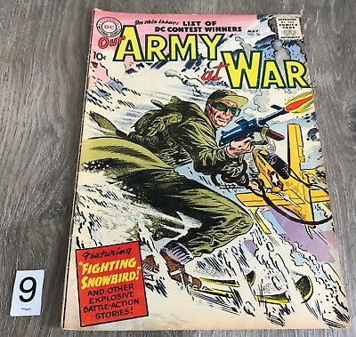DC Comic Our Army at War May 58 1957 GD/VG 3.0 Complete Silver Age War Original