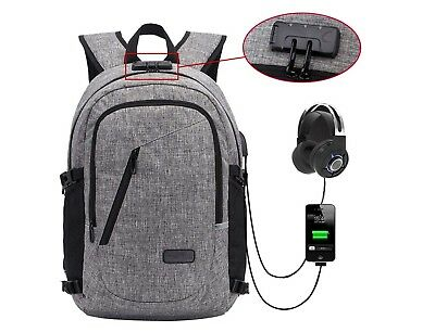 Travel Laptop Backpack, Anti Theft Water Resistant Laptop Backpack with USB Char