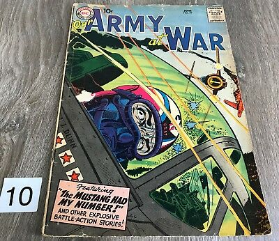 DC Comic Our Army at War June 59 1957 FR/GD 1.5 Complete Silver Age War Original