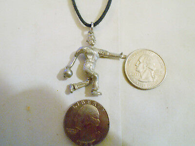bling pewter bowling indoor sport ball game Charm Pendant chain Necklace JEWELRY