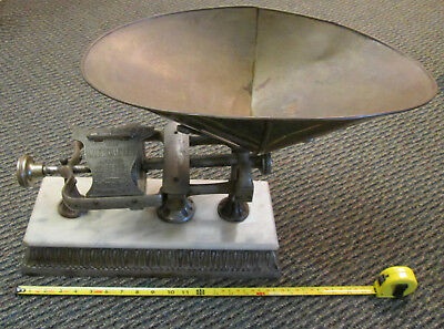 Large merchant's countertop balance scale - 1903 Micrometer by Dodge Yonkers NY