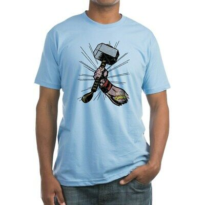 CafePress Marvel Comics Thor Hammer Retro Fitted T Shirt Fitted Tee (1375932465)