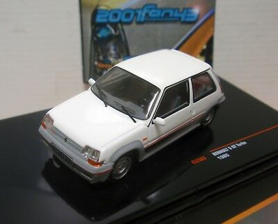 Renault 5 Gt Turbo 1985 Blanco White 1/43 Ixo Clc303