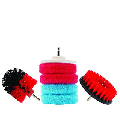 Bring It On Cleaning Drill Brush Set, Clean Tile Grout, Clean Tubs and Shower