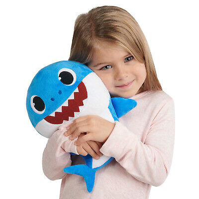 New Blue PINKFONG Baby Shark Singing Plush English Blue Daddy Doll WoWwee