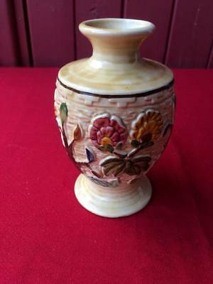 Indian Tree H.J. Wood Staffordshire Hand Painted Pottery Vase