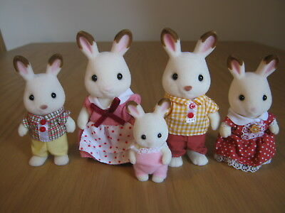 Sylvanian Families - Epoch UK Chocolate Rabbit Family of Five