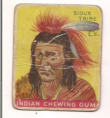 Goudey Indian Gum 1933 Card #11 Chief of the Sioux Tribe Big Eagle