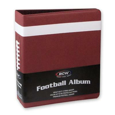 """1 case of 6 BCW Brand 3"""" Premium Brown Football Collector Albums Textured Cover"""