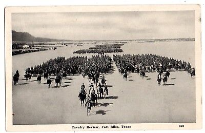 """Fort Bliss Texas 1942 """"cavalry Review""""--Sent To--Fostoria Ohio--Soldier's Mail"""