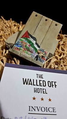BANKSY Walled Off Hotel Defeated Wall Sculpture Palestine Flag -Original Receipt