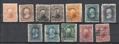 Mexico 1874-1880 lot used and MH stamps with overprint