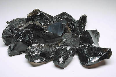 Obsidian 2 Lbs Smoky Clear Midnight Lace Knapping Natural Volcanic Glass 15376
