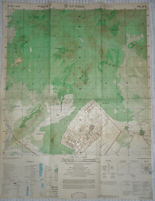 6732 ii - PHAN RANG AIRBASE - VERY RARE MAP - April 1971 - VIETNAM WAR - AN NHON