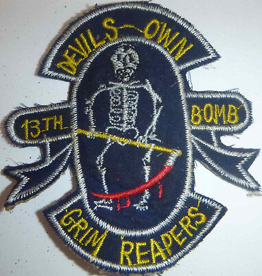 DEVIL'S OWN GRIM REAPERS - Variant Patch - USAF 13th BOMB SQN - Vietnam War - L