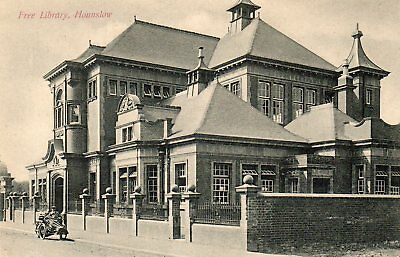 Hounslow,Free Library,Edwardian Printed Photographic Postcard:See Scans