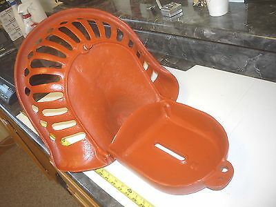 Old  Style Cast Iron Farm Seat  With Toolbox Tractor