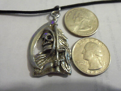 bling pewter myth goth druid grim reaper pendant charm hip hop necklace jewelry