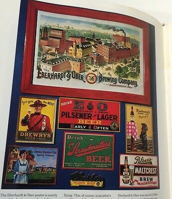 Rare GREAT SIGN S LITHO  Bottles History Tray COLOR Beer Book by Anderson
