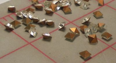 4x4mm Vintage 575 Square Point Back Crystal Glass Stones With Envelope Czech