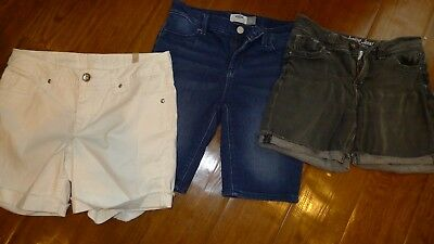 Lot of 3 pairs of jeans shorts for girls size 12 Justice Old Navy (1 new)