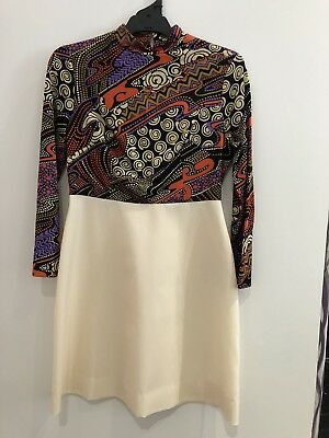 Vintage Dress With Matching Vest 1960's