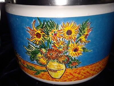 Chaleur Master Impressionists Van Gough Sunflowers Coffee Tea Canister Starbucks
