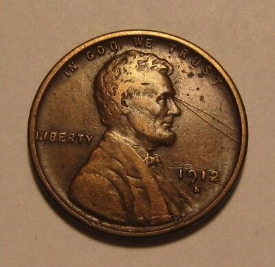 1912 S Lincoln Cent Penny - Extra Fine Details - 6FR