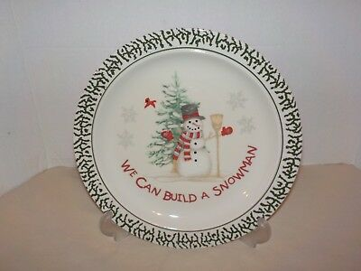 WE CAN BUILD A SNOWMAN 12 P Stoneware 4 Place Settings
