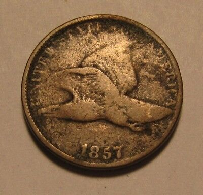 1857 Flying Eagle Cent Penny - Very Good Condition - 31FR