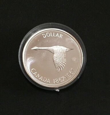 1967 Canadian Proof-Like Silver Dollar Coin in Capsule item #005