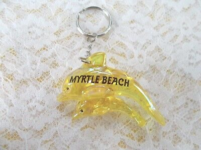 "Pre-Owned, ""Myrtle Beach"" Dolphins Key Ring/Chain"