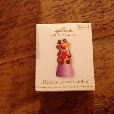 Hallmark Keepsake Miniature Ornament 2012 Deer-ly Loved Cookie Gumdrop NIB