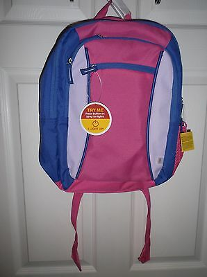 NWT Kid's School Light Up Backpack Pink & blue for Girls By Circo