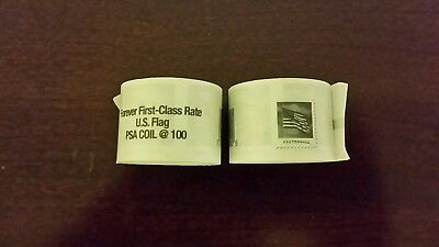 200 U.S. Forever Postage Stamps (2 rolls x 100 each) sealed
