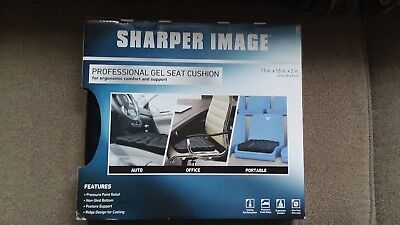 Sharper Image Multi Use Gel Seat Cushion Black 4096 Picclick