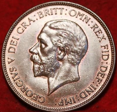 Uncirculated 1935 Great Britain Penny Foreign Coin