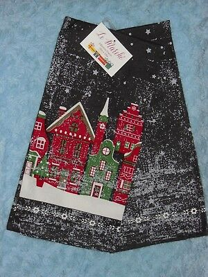Le Marche Christmas Starry Night Kitchen Towel Set/2 NIP FREE US SHIP