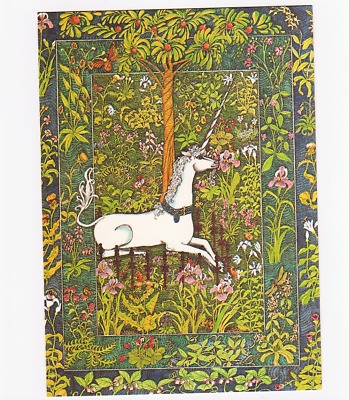 1976 UNICORN Greeting Cards 8pc w/Envelopes Vintage Recycled Paper Products Inc