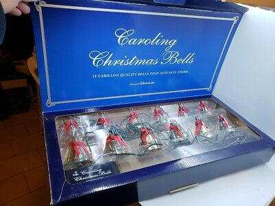 ROMAN Caroling Musical Christmas Bells 12 Carillon Chime Bells Play 25 Songs
