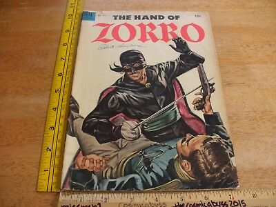 The Hand of Zorro Four Color 574 Dell comic VG 1950s painted cover