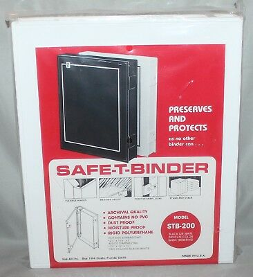 Vue-All Archival Safe-T-Binder w/ Rings White STB-200