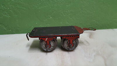 Ives early O scale tin litho toy train tender frame complete with coupler old!!