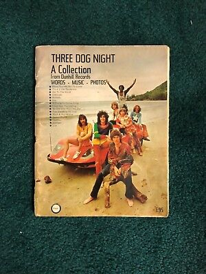 Music Historical Collectors Music Book  'Three Dog Night A Collection ' Words ,