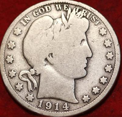 1914 Philadelphia Mint Silver Barber Half Dollar
